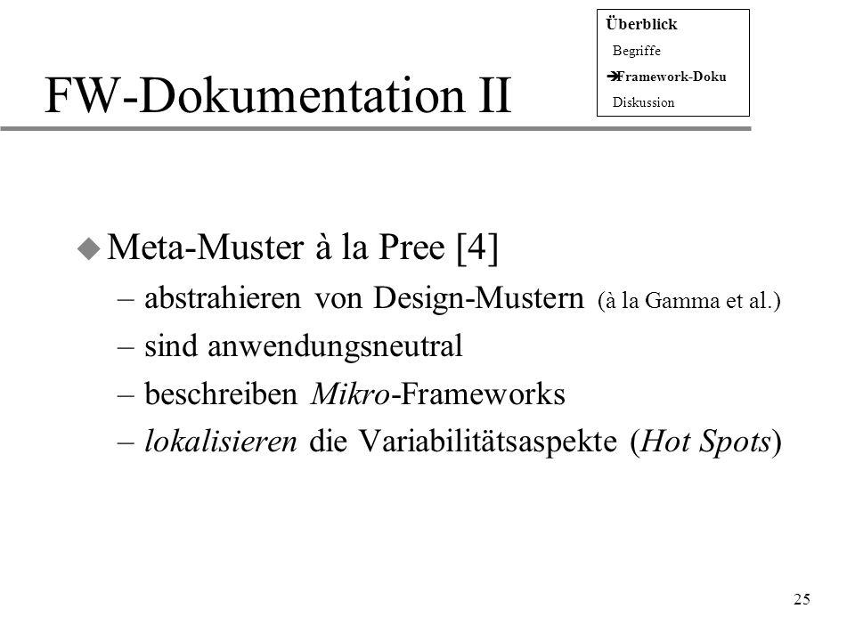FW-Dokumentation II Meta-Muster à la Pree [4]